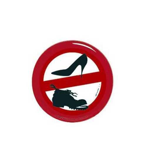 Adesivo divieto indossare scarpe