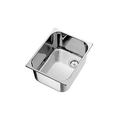 Lavello quadrato in acciaio Inox lucido