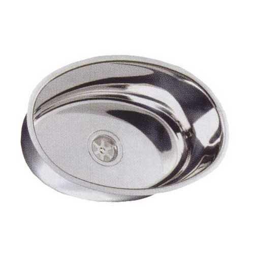 Lavello ovale in acciaio Inox lucido