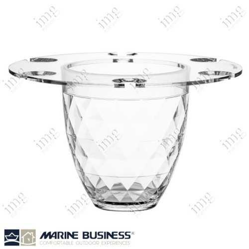 Secchiello per ghiaccio con porta bicchieri