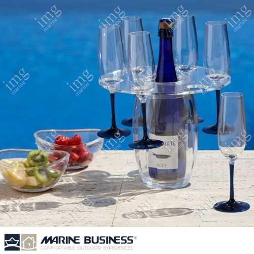 Portabottiglie termico con porta bicchieri Marine Business