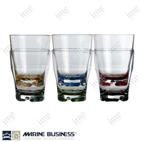 Bicchieri Colours Acqua impilabili Marine Business