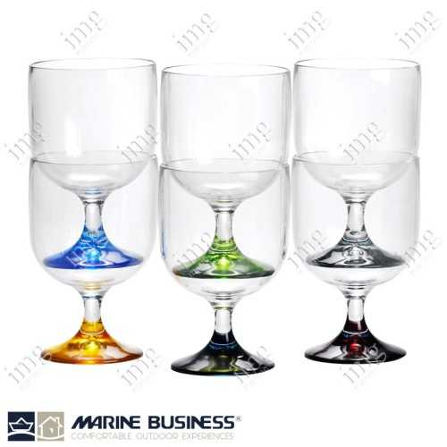 Bicchieri infrangibili Colors Calici Acqua o Vino impilabili Marine Business