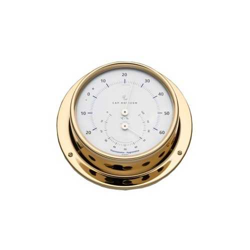 Termoigrometro Ø88 ottone lucido