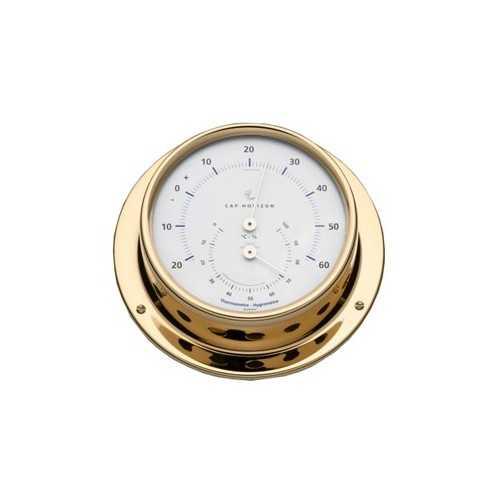 Termoigrometro Ø110 ottone lucido Cap Horizon