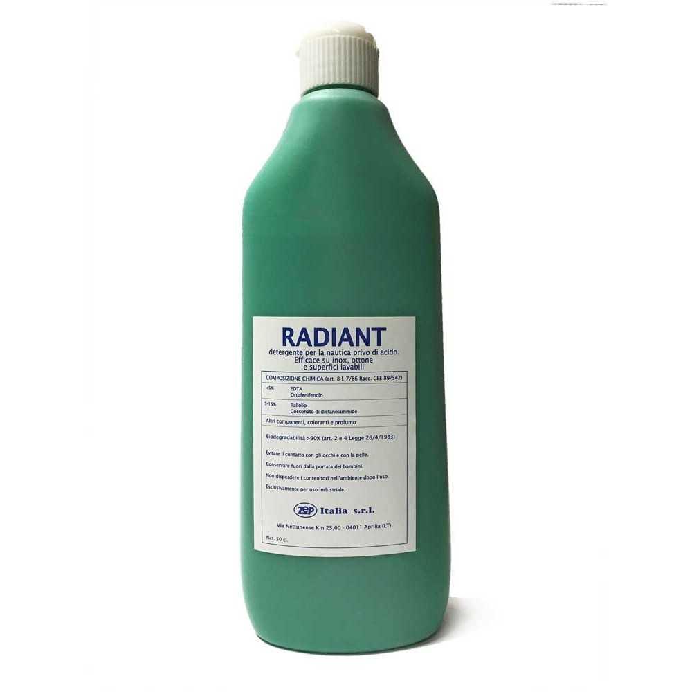 Detergente Radiant per metalli e superfici lavabili