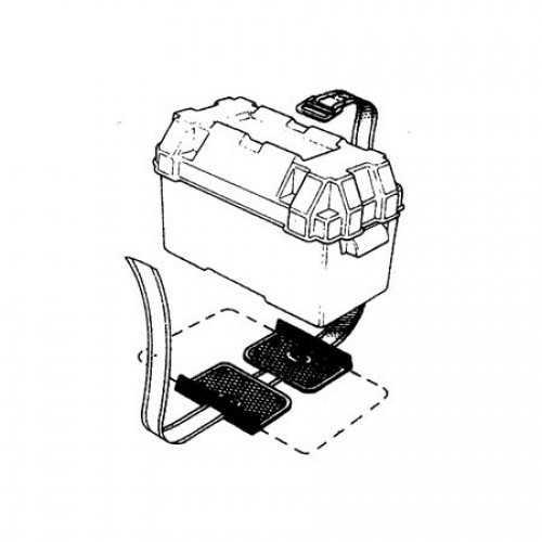 Cinghie e piastre portabatteria