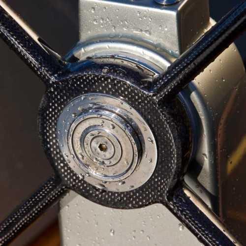 Mozzo in acciaio per timoni Polymer