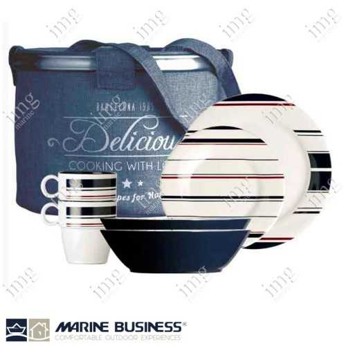 Set piatti 25 pezzi Monaco Marine Business
