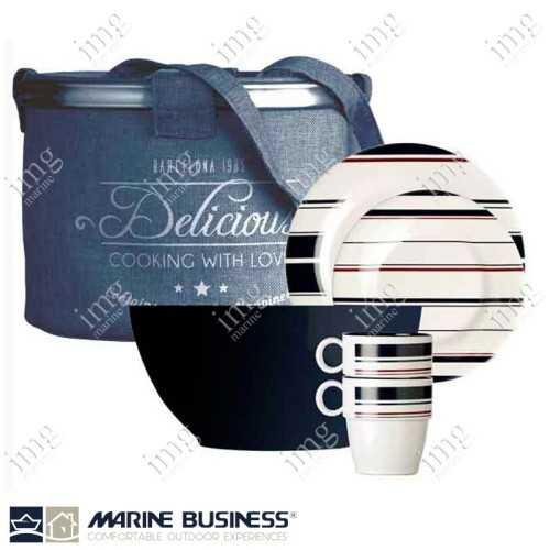 Set piatti 16 pezzi Monaco Marine Business
