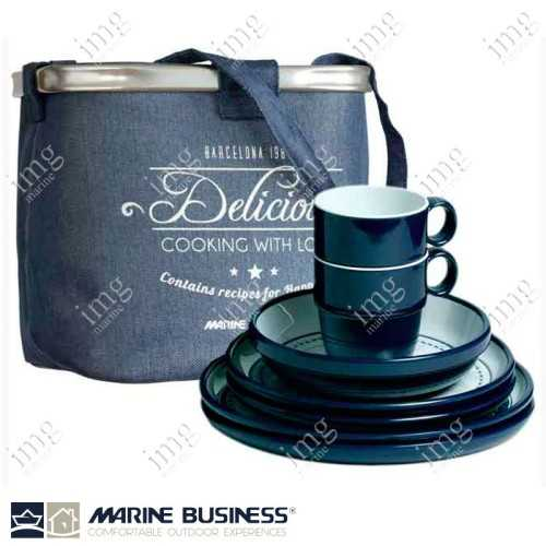 Set piatti 25 pezzi melamina Columbus Marine Business