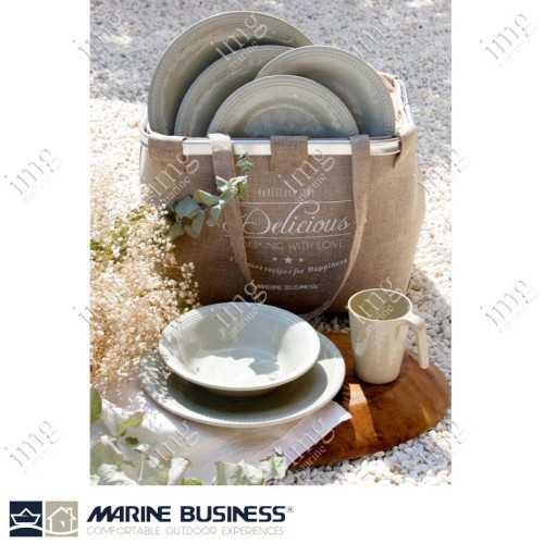 Set piatti 25 pezzi Sand Harmony Marine Business