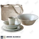 Set piatti 14 pezzi Sand Harmony Marine Business