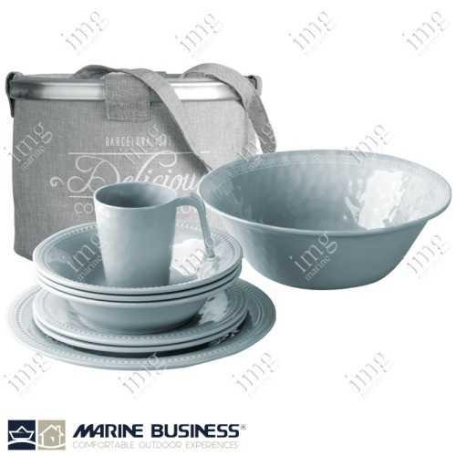 Set piatti 14 pezzi Silver Harmony Marine Business