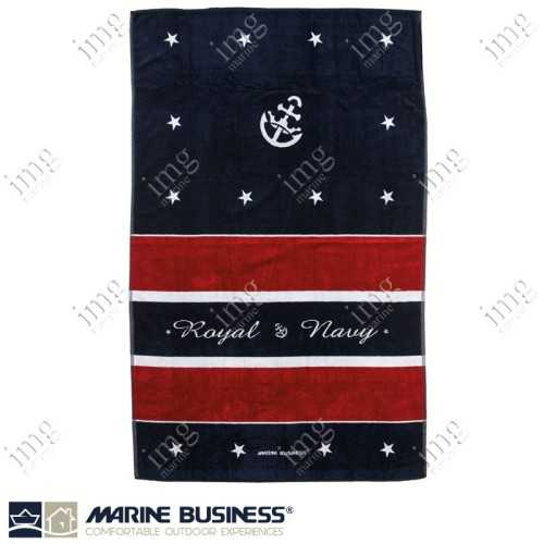 Telo Mare Spugna Royal Red con cuscino - Marine Business