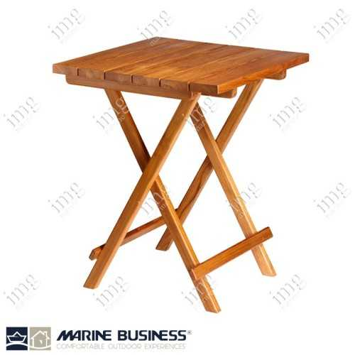 Tavolo Teak pieghevole quadrato Marine Business