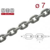 Catena calibrata zincata MTM Ø  7 per verricelli