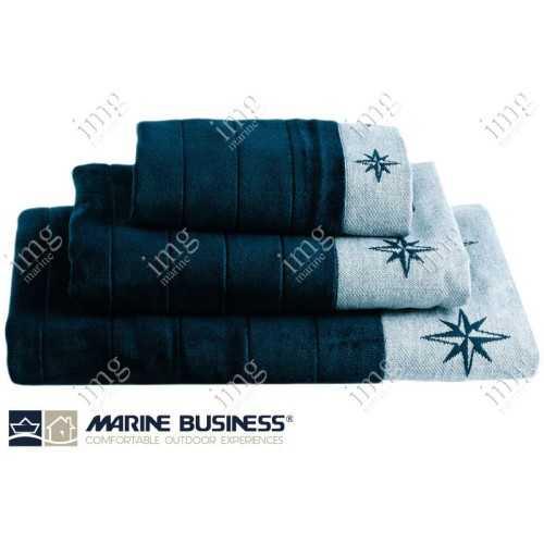 Completo Asciugamani Spugna Free Style Blue Navy - Marine Business