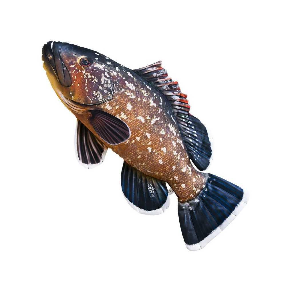 Cuscino d 39 arredo a forma di pesce cernia oscura for Ais arredo