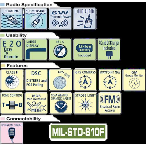 VHF portatile HX890E Horizon