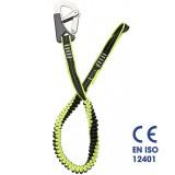Cinghia sicurezza cordone ombelicale elastico 1 moschettone Plastimo EN ISO 12401