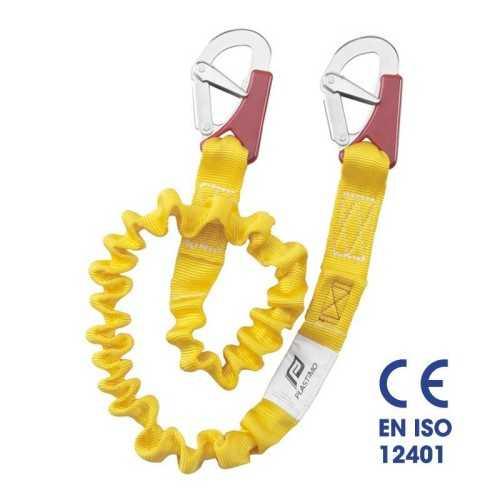 Cordone ombelicale elastico ISAF 2 moschettoni Plastimo EN ISO 12401