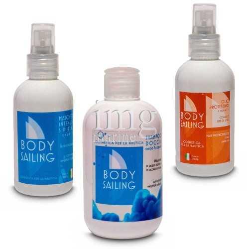 Kit estate Body Sailing 1 Shampoo doccia + Maschera + Olio per capelli