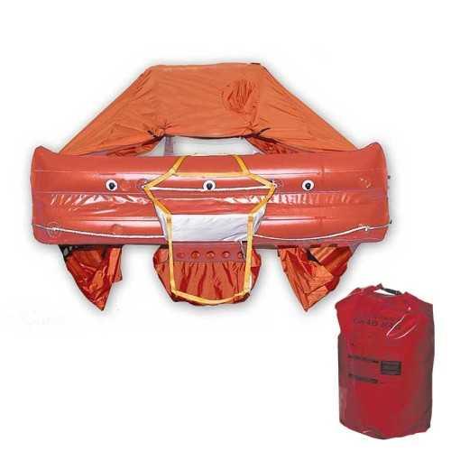 Zattera ISO 9650 Italia navigazione senza liminti Eurovinil Syntesy con Grab Bag