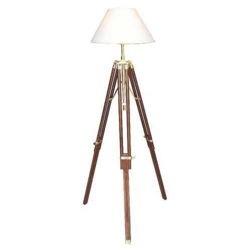 Lampada piantana con treppiede in legno Sheesham H147
