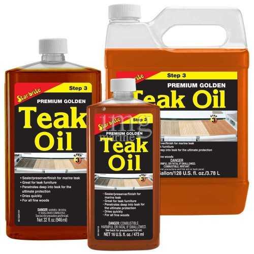 Olio impregnate Golden Teak Oil Star Brite fase 3