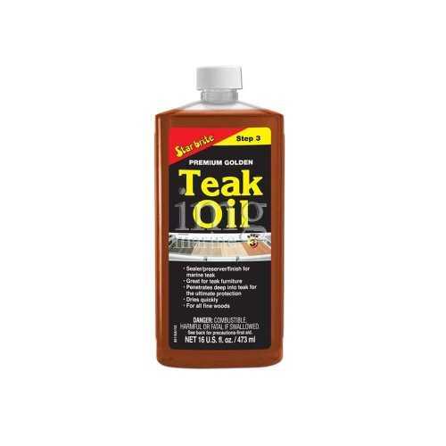 Olio impregnate Golden Teak Oil Star Brite fase 3 confezione 0,5 litri