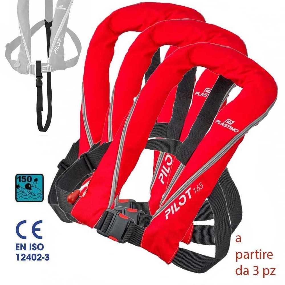 Giubbotto salvagente gonfiabile 165N New Pilot Red Plastimo prezzo offerta per l'acquisto minimo di 3 pezzi
