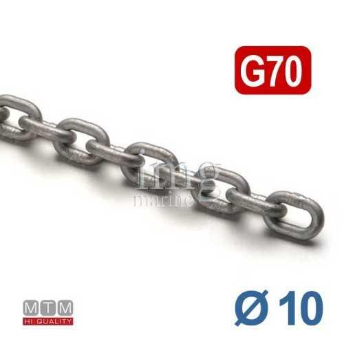 Catena calibrata G70 Ø 10 p30 MTM