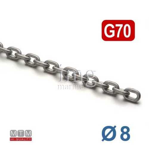 Catena calibrata G70 Ø  8 MTM