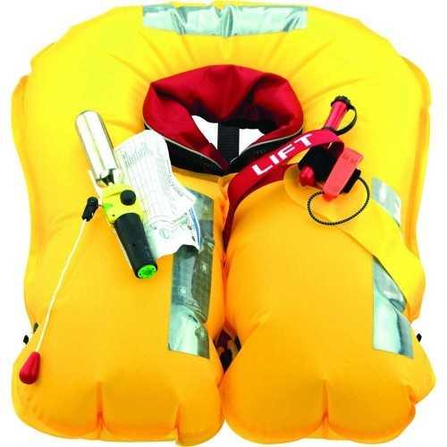 Giubbotto salvataggio gonfiabile Skipper 180N con imbrago, certificato ISO12402-3 e ISO 12401 Veleria San Giorgio