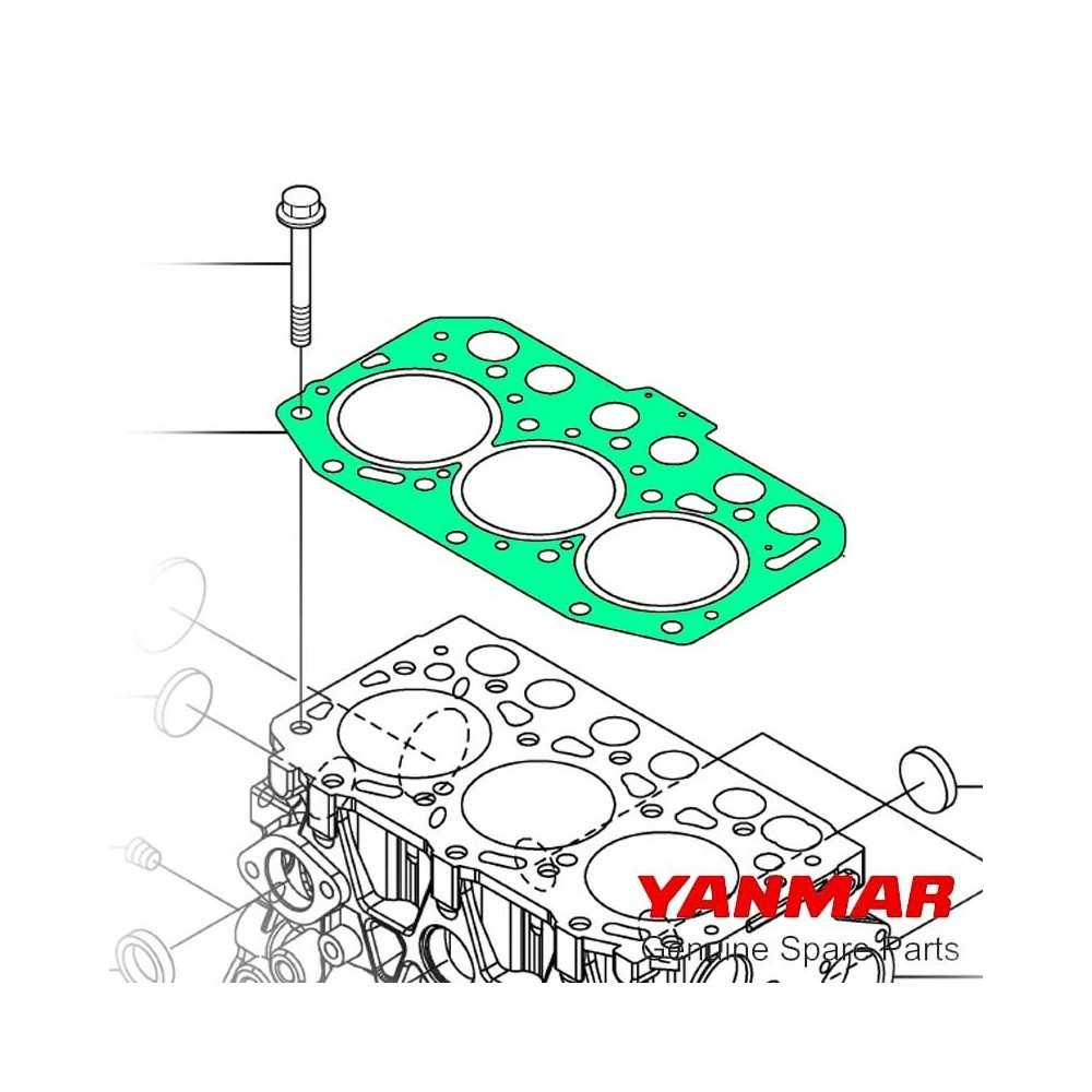Guarnizione testata serie 3YM20 Yanmar