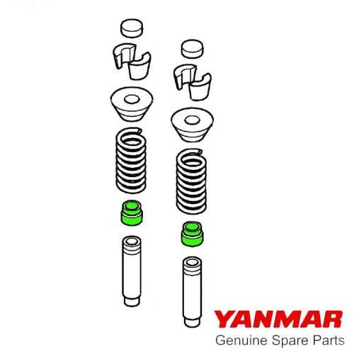 Paraolio valvole serie 3YM20 Yanmar