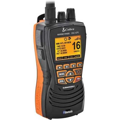 VHF portatile Cobra MR HH600 GPS BT EU con DSC colore nero