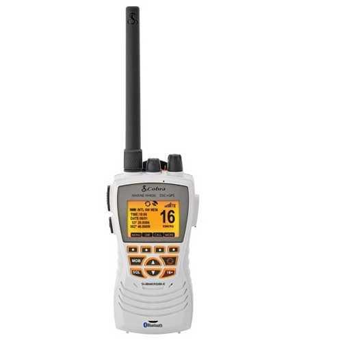 VHF portatile Cobra MR HH600 GPS BT EU con DSC colore bianco