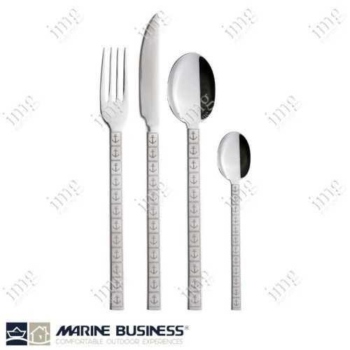 Servizio posate Premium in acciaio Inox, con decori Marine Business