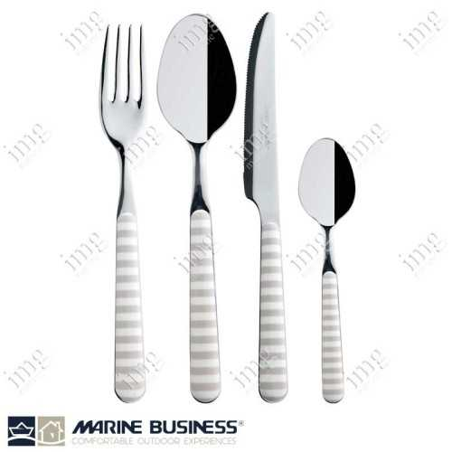 Set di 24 Posate Bone in acciaio Inox e ABS di Marine Business
