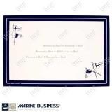 Tovagliette americane Marine Business serie Welcome on Board in PVC espanso antiscivolo