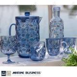 Stoviglie infrangibili antigraffio Moon Blu Marine Business