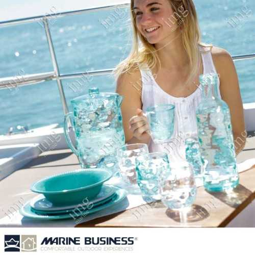 Stoviglie infrangibili serie Moon Acqua Marine Business in MS BPA Free