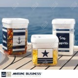 Set 4 barattoli ermetici impilabili Marine Business Seria Sea Lovers