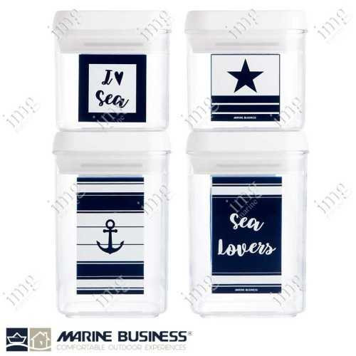 Barattoli ermetici impilabili Sea Lovers Set. 4 pezzi Marine Business