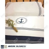 Lenzuolo singolo ricamato Santorini Bianco con Federa - Marine Business