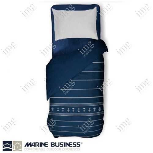Trapunta Leggera Singola Serie Santorini Blue - Marine Business