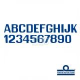 Lettere e numeri 150 mm blu
