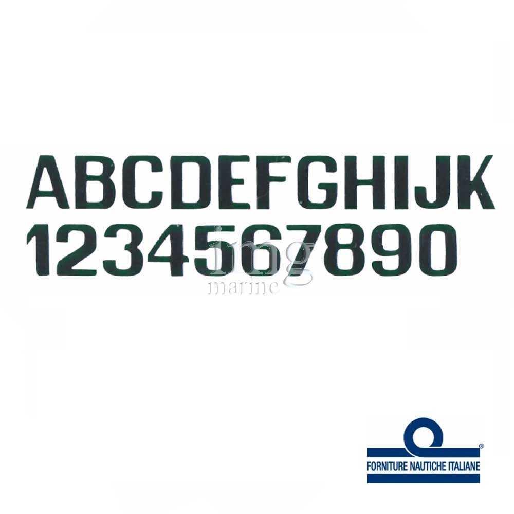 Lettere e numeri 200 mm neri